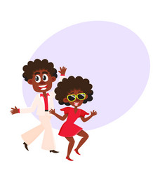 black african american couple man and woman vector image