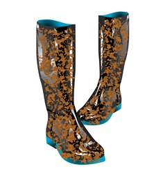 Boots mud vector