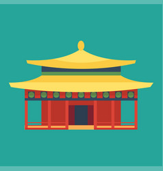 Cathedral chinese churche temple building landmark vector