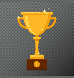 champion golden goblet isolated on background vector image