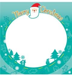 Christmas Outline Ornaments Border vector image