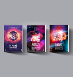 dance club night summer party flyer brochure vector image