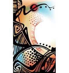 decorative ethnic ornament vector image