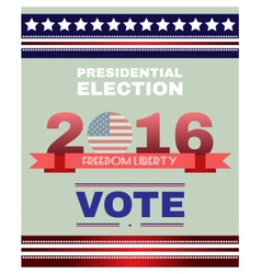 Digital usa election with presidential vote vector