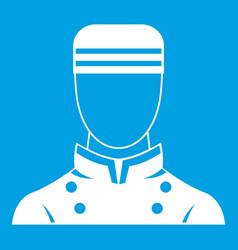 Doorman icon white vector