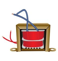 Electrical transformer vector image