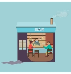 Friends sitting in bar winter vector