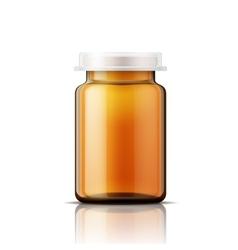 Glass bottle for pills vector