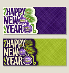 greeting cards for new year vector image vector image