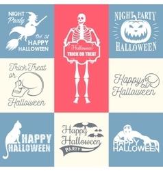 Halloween Badges set vector image