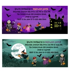 Halloween invitations vector image