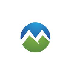 High mountain icon logo template vector