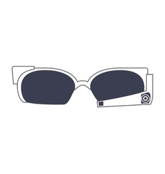 High technology glasses icon vector