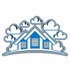 Houses detailed village idea graphic country hous vector