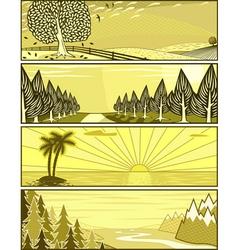 Landscape banners vector