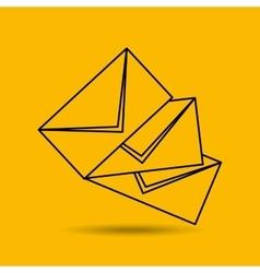 letter mail design vector image