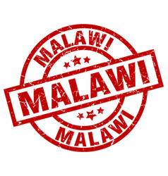 Malawi red round grunge stamp vector