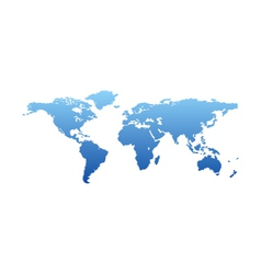 Map of the world - blue silhouette isolated vector