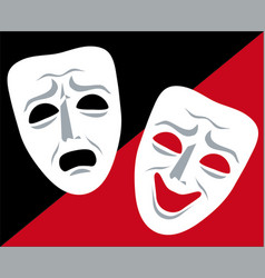 mask theater vector image vector image
