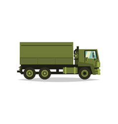 military truck transport carriage of soldiers vector image vector image