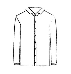 Monochrome blurred silhouette of shirt long sleeve vector