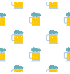 Mug of beer pattern seamless vector