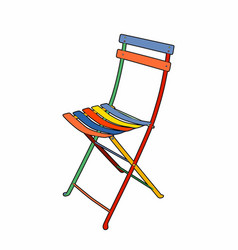 Multi colored garden chair vector