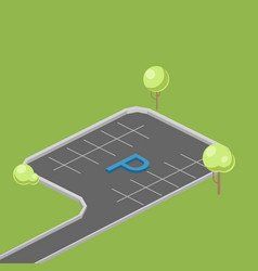 parking place isometric vector image vector image