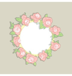 roses wreath vector image