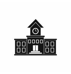 School building icon simple style vector
