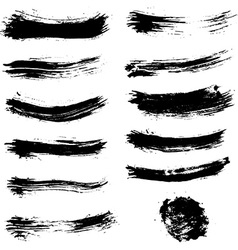 Set of brush strokes Brush stroke collection vector image