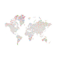 Similar silhouette of world map big data pattern vector