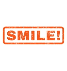 Smile rubber stamp vector