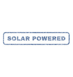 Solar powered textile stamp vector