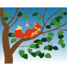 squirrel-pw vector image vector image
