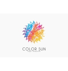 Sun logo design color sun Creative logo Star vector image