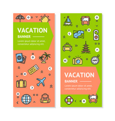 travel flyer banner placard set vector image