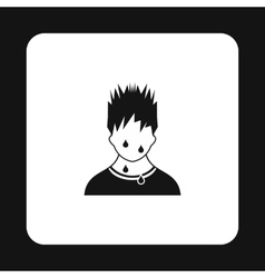 Troubled man icon simple style vector