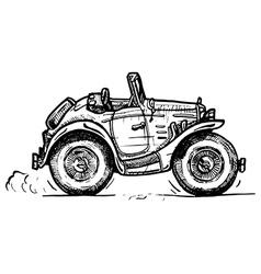 Vintage convertible vector