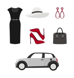 Flat design concept of fashion look vector