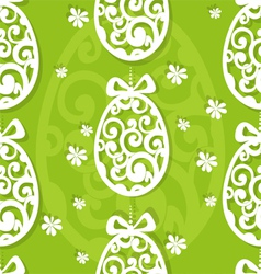 Easter egg openwork appliques seamless background vector