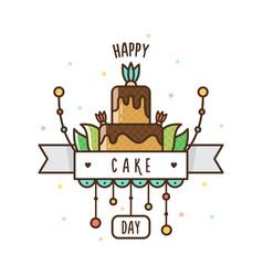 Happy cake day vector