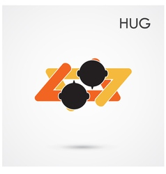 Abstract hug symbol vector