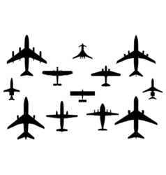 12 vector airplanes vector image