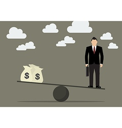 Balancing work and money vector