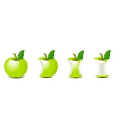 biten apple vector image