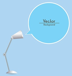 Table lamp with speech bubble vector