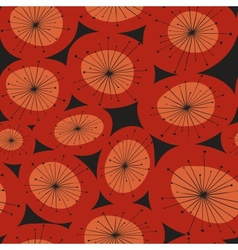 Abstract red flower pattern vector