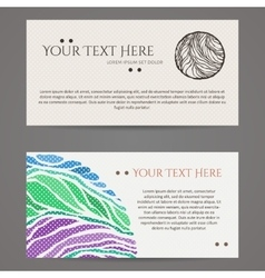 Set of design templates business card with vector