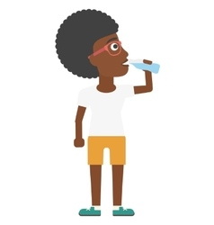 Woman drinking water vector